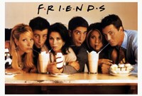 Friends (TV) Cast Drinking Milkshakes Framed Print