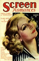 Greta Garbo - Screen Romances Fine Art Print