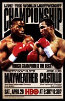 Pretty Boy Floyd Mayweather vs Jose Luis Castillo Fine Art Print