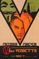 V for Vendetta Freedom! Forever! Fine Art Print