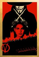 V for Vendetta Black and Red Framed Print