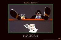 World Series of Poker Royal Flush Framed Print