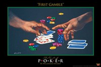 World Series of Poker First Gamble Framed Print