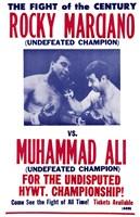 Rocky Marciano vs Muhammad Ali Fine Art Print