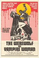 Werewolf vs. the Vampire Women Framed Print