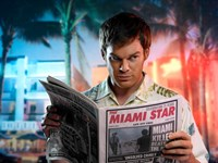 Dexter Miami Star Framed Print