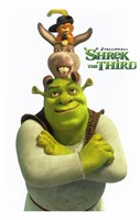 Shrek the Third Main Characters Fine Art Print