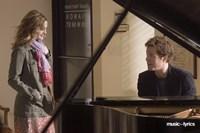 Music and Lyrics - couple at a piano Fine Art Print