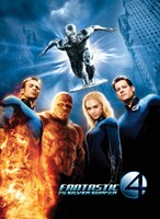 Fantastic Four: Rise of the Silver Surfer Movie Poster Framed Print