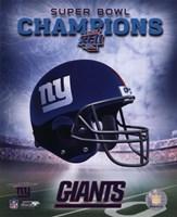 New York Giants SuperBowl XLII Champions Helmet Photo Fine Art Print