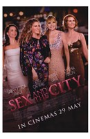 Sex and The City: The Movie - characters Fine Art Print
