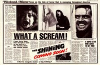 The Shining - news paper Fine Art Print