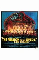 The Phantom of the Opera Fire to Opera House Fine Art Print