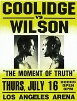 Coolidge vs. Wilson Fight Fine Art Print