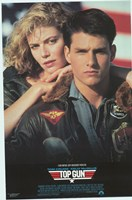 Top Gun Tom Cruise & Kelly McGillis Fine Art Print