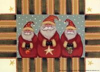 Santa Trio Fine Art Print