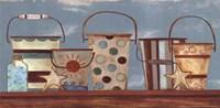 Vintage Beach Pails I Fine Art Print