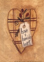 Humble Heart Framed Print