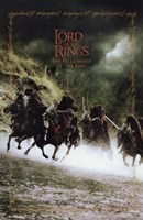 Lord of the Rings: Fellowship of the Ring Battling on Horses Fine Art Print