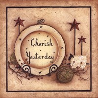 Cherish Yesterday Framed Print