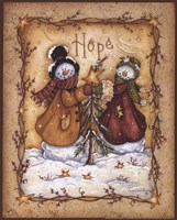 Snow Folk Hope Fine Art Print