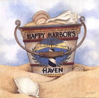 Happy Harbor's Framed Print