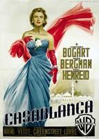 Casablanca Blue Dress Fine Art Print