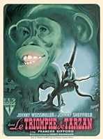 Tarzan Triumphs - French, c.1943 Framed Print