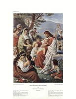 Jesus Blessing the Children Framed Print