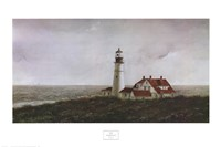 Above Portland Light Fine Art Print
