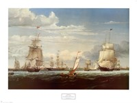 Boston Harbor, 1853 Framed Print