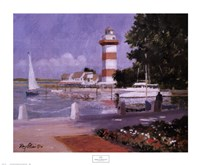 Morning at Harbour Town Framed Print