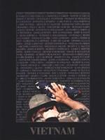 Vietnam Memory Wall Framed Print