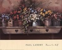 Flowers on Shelf Fine Art Print