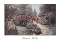 Crimson Bridge Fine Art Print