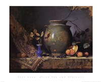 Olive Jar and Apricots Fine Art Print