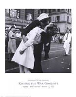 Kissing the War Goodbye, VJ Day, Times Square, August 14, 1945 Fine Art Print