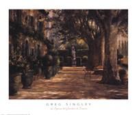 La Signora del Giardino di Tuscana Fine Art Print