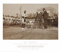 Lou Gehrig Farewell Framed Print
