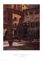 Siena Courtyard Fine Art Print