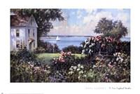 A New England Garden Framed Print