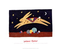 Leaping Rabbit Fine Art Print