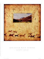 Red Rock Wild Horses Fine Art Print