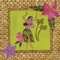 Tiki Girl I Framed Print