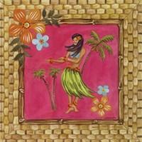 Tiki Girl IV Framed Print