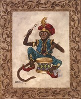 Monkey With Drum Fine Art Print