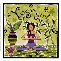 Yoga Girl Framed Print