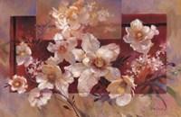 Floral sur la Rouge Fine Art Print