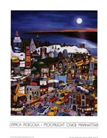 Moonlight Over Manhattan Framed Print