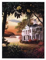 Sunrise On The Mississippi Fine Art Print